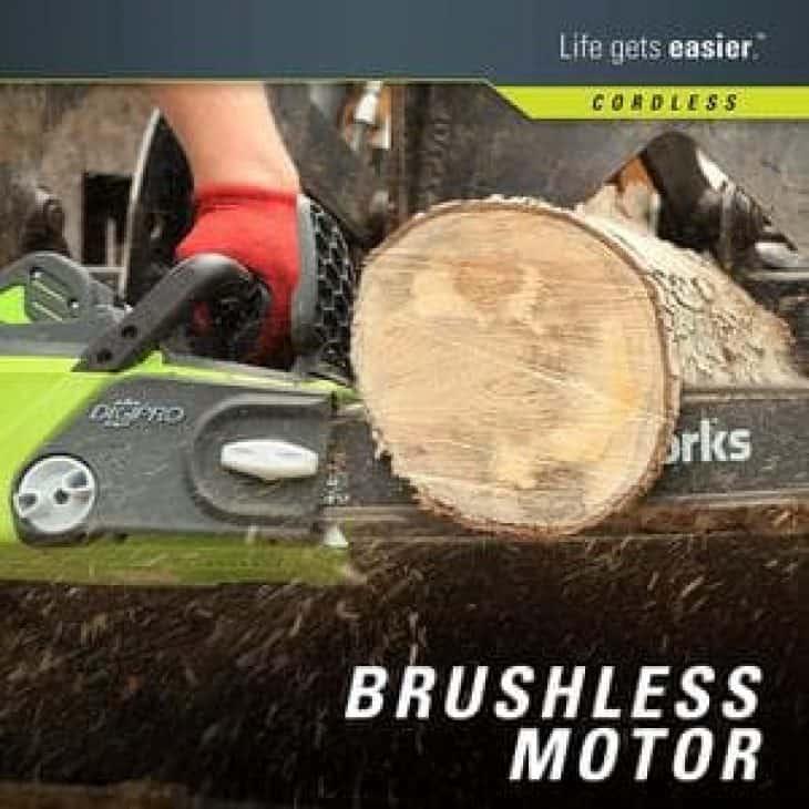 GreenWorks G-MAX 20312 40V brushless motor