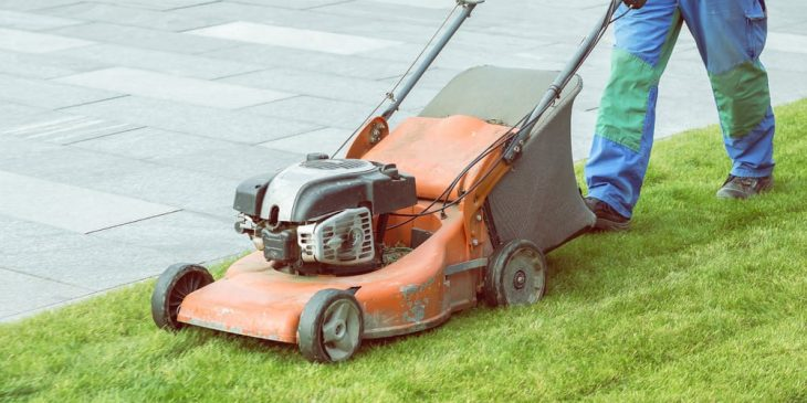gas powered push lawn mower