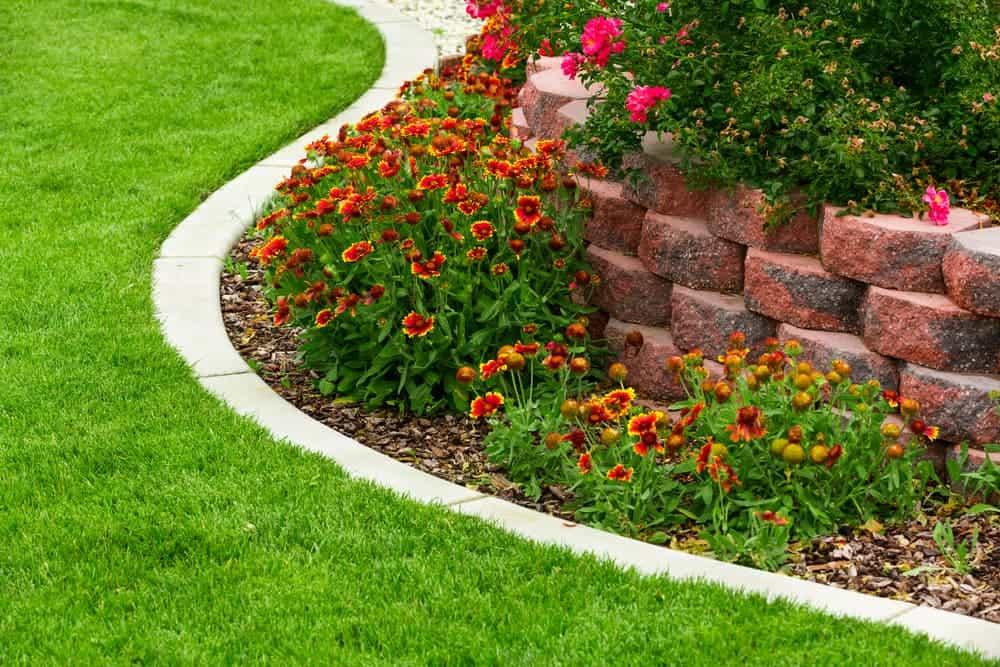 edging lawn concret border