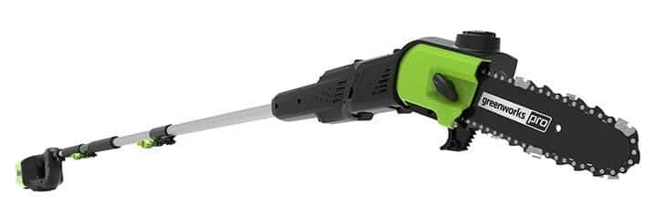 greenworks pro battery powered pole chainsaw review