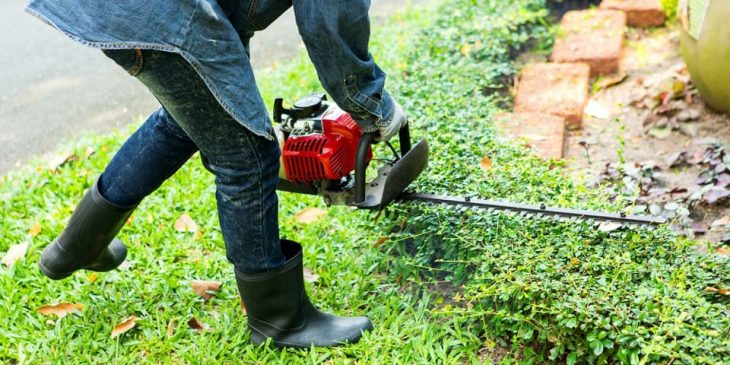 how to use a gas powered hedge trimmer safely