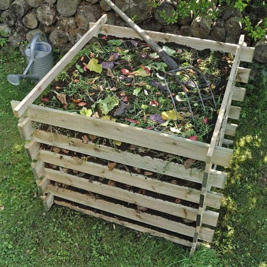 fill your compost bin with leaves