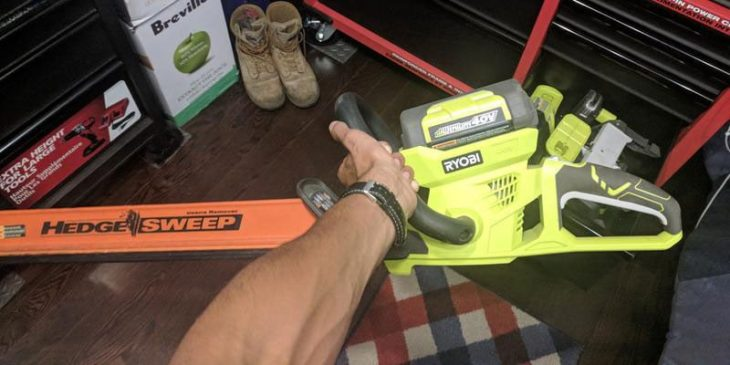 ryobi cordless hedge trimmer review