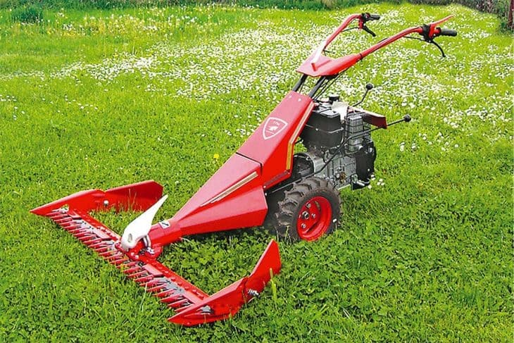 Walk behind sickle bar mower