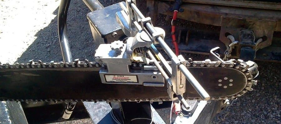 sharpening chainsaw with bar mount